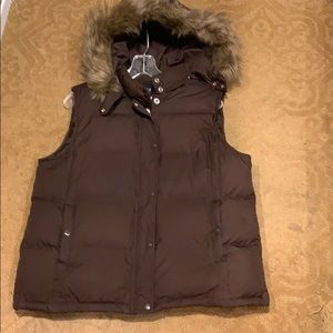 GAP Jackets & Coats - Chocolate brown hooded vest